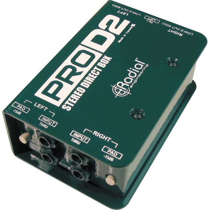 Radial Pro D2 Stereo DI Box