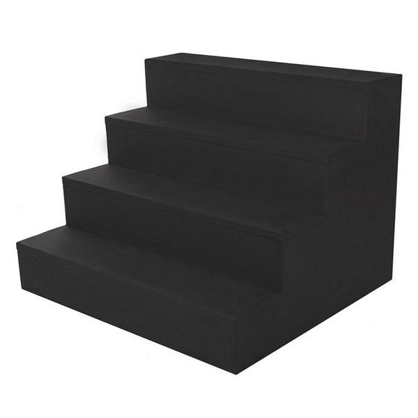 74cm Black Wooden Steps
